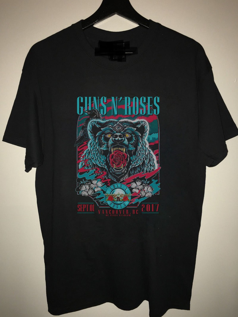 create a shirt new guns n 39 roses not in this lifetime vancouver crew neck men short sleeve top t. Black Bedroom Furniture Sets. Home Design Ideas