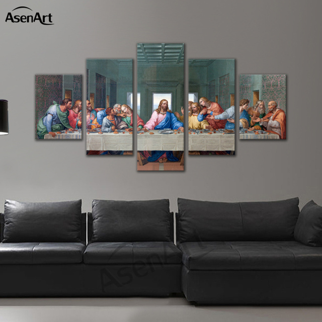 Modern Canvas Wall Art Rectangle Christian The Last Supper Jesus ...