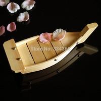 Free Shipping 14 Japanese Wooden Sushi Boat Sushi Container For Seafood Sushi Sashimi Boat 35cm