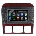 Duble din Car DVD Player Multimídia Para Mercedes W215 W220 S280 S320 S350 S500 S600 S400 S Classe VELHO Rádio de Navegação GPS rds