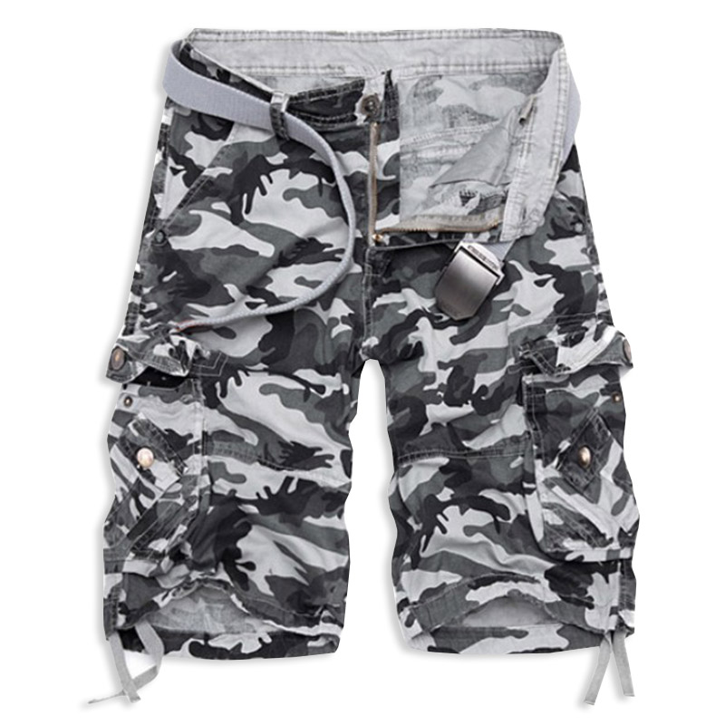 2018 New Camouflage Loose Cargo Shorts Men Cool Summer Military Camo Short Pants Hot Sale Homme Cargo Shorts