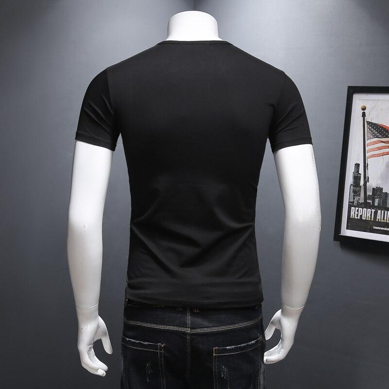 OS explore the space Black Casual shirt Boys T shirts Men astronaut 2018 Cotton Tops Tees Loose Short Funny Man's