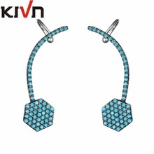 KIVN Fashion Jewelry Stylish CZ Ear Cuff Ear Crawler Climber Earrings for Women Mothers Day Birthday Christmas Gifts