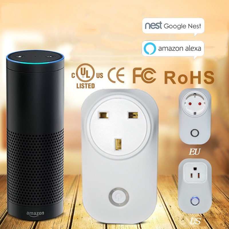 Smart Plug Wi-Fi Smart Power Socket Outlet Works with Amazon echo Alexa Control Your Devices from Anywhere (UK Plug)