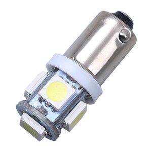 Image 1 - 10PCS T11 BA9S 5050 5 SMD LED White Light Bulb Car light Source Car 12V Lamp T4W 3886X H6W 363 High Quality