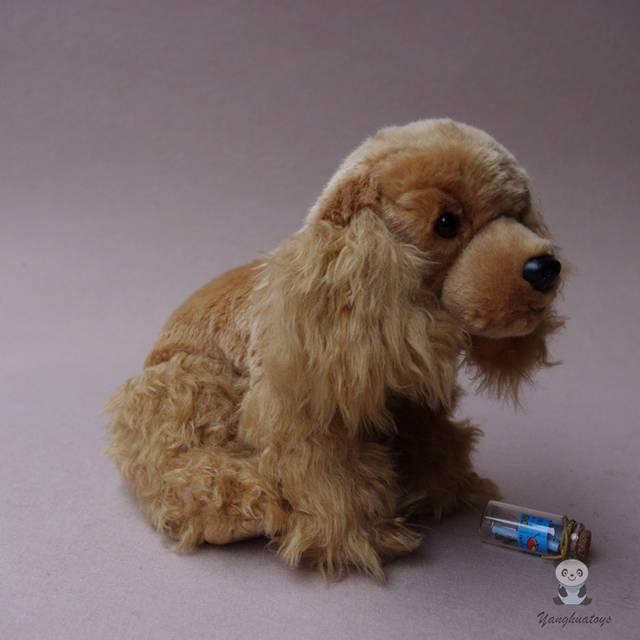 Online Shop Plush Animals Toy Real Life Cocker Spaniel Doll Stuffed