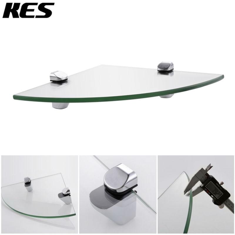 KES BGS3102/ 2 Toilet Badkamer Hoek Gehard Glas Plank 8MM Thick ...