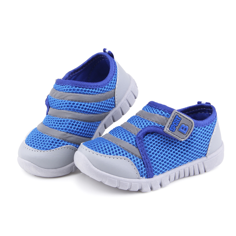 Kids Shoes For Boys Girls Children's Casual Sneakers Air Mesh Breathable Soft Running Sports Shoes Pink Blue 13-15.5CM