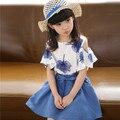 Venta caliente Vestidos para Niñas de 3 Colores, de La Manera Hermosa Flor Vestidos de Las Muchachas para el Partido y La Boda, Lovely Baby Vestido de las muchachas Del Niño