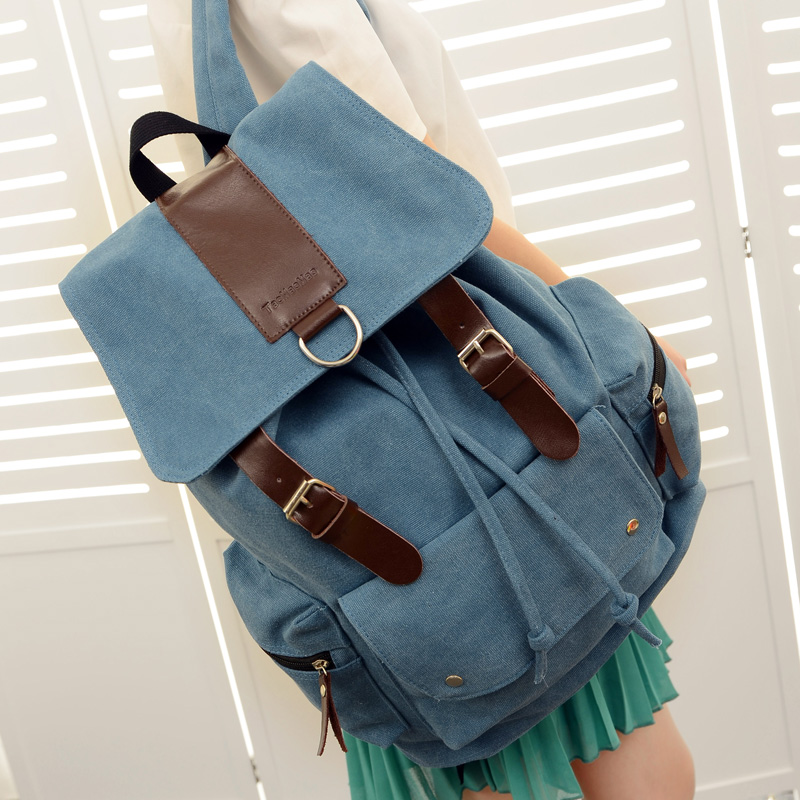 Vintage Women Men Canvas Backpack Fashion School Bag Casual Travel Rucksack Shoulder Bags sac a main bolsos mujer 2016 womens men casual backpack girl school fashion shoulder bag rucksack travel bags 634 11