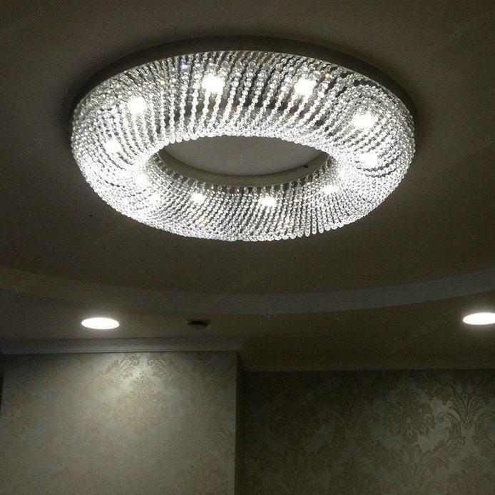 modern crystal ceiling lamp luminaire round living room light led flush mount ceiling crystal. Black Bedroom Furniture Sets. Home Design Ideas