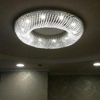 Modern crystal ceiling lamp luminaire Round living room light LED flush mount ceiling crystal lighting Lampara cristal