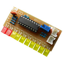 재미있는 10 오디오 레벨 표시기 LM3915 DIY 키트 전자 오디오 표시기 스위트