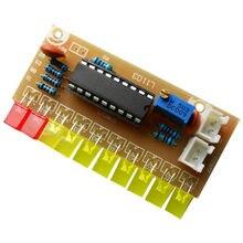 Engraçado 10 indicador de nível de áudio lm3915 diy kit indicador de áudio eletrônico suíte
