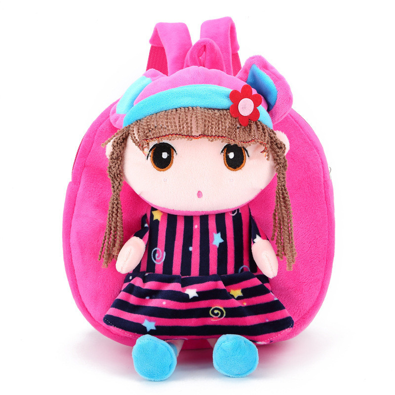 Kindergarten Backpacks for Children Cute Cartoon Plush Mini Girl Backpack Kids School Bags Baby for Gift Infant SchoolBags lanso 1 pcs cute plush cartoon backpack kindergarten boys girls cute elephant infant school bags doll toys backpacks for kids