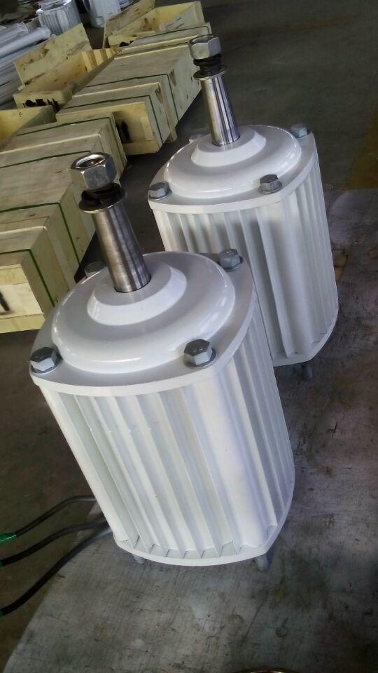 2KW 2000W 380RPM low rpm horizontal wind hydro alternator permanent magnet water power dynamotor hydro turbine