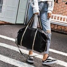 2019 Ladies Black Travel Bag Fashion Shoulder Women Handbag Waterproof Weekend Portable Duffel