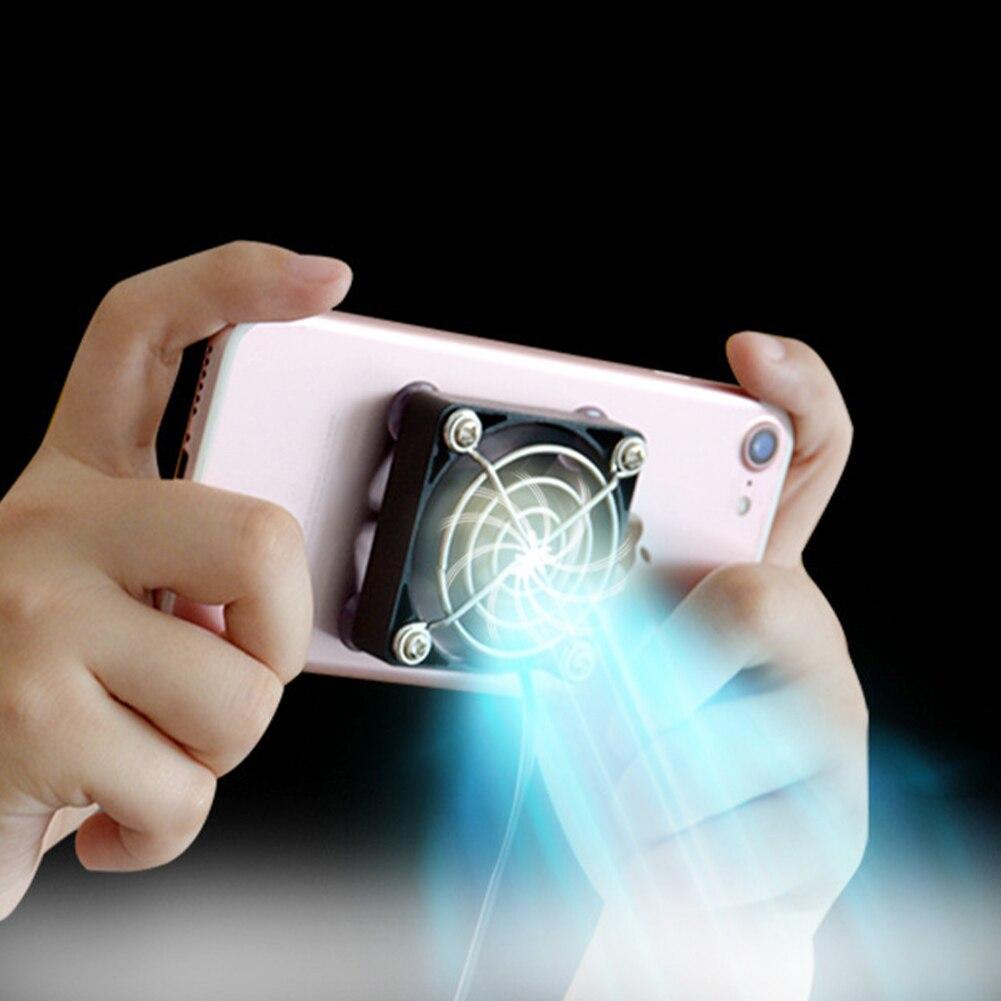 Black USB Tablet Cooling Fan Portable Mobile Phone Cooler