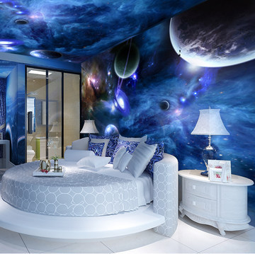 Buy custom photo wallpaper large indoor for Space wallpaper for rooms