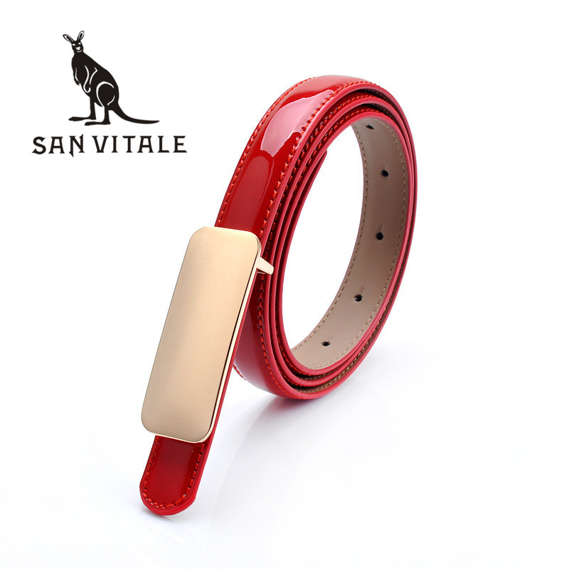 Belts Womens Belt Genuine Leather Top Quality Ceinture Cowskin Accessories font b Slim b font Apparel