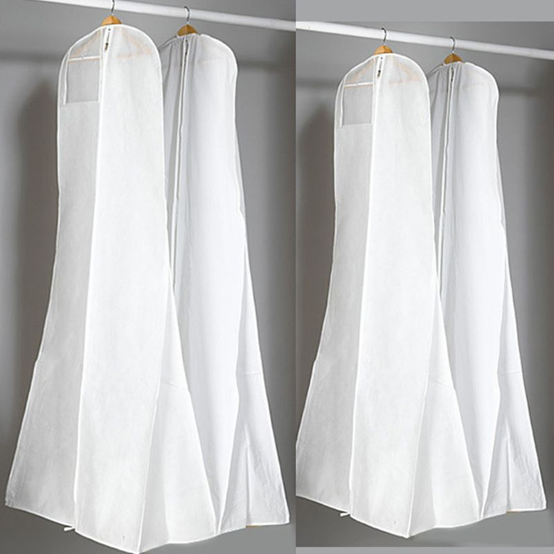 180x70x25cm Double Side Non-Woven Fabric Fishtail Wedding Dress Dustproof Cover Extra Large Storage Bag Clothes Case Protector