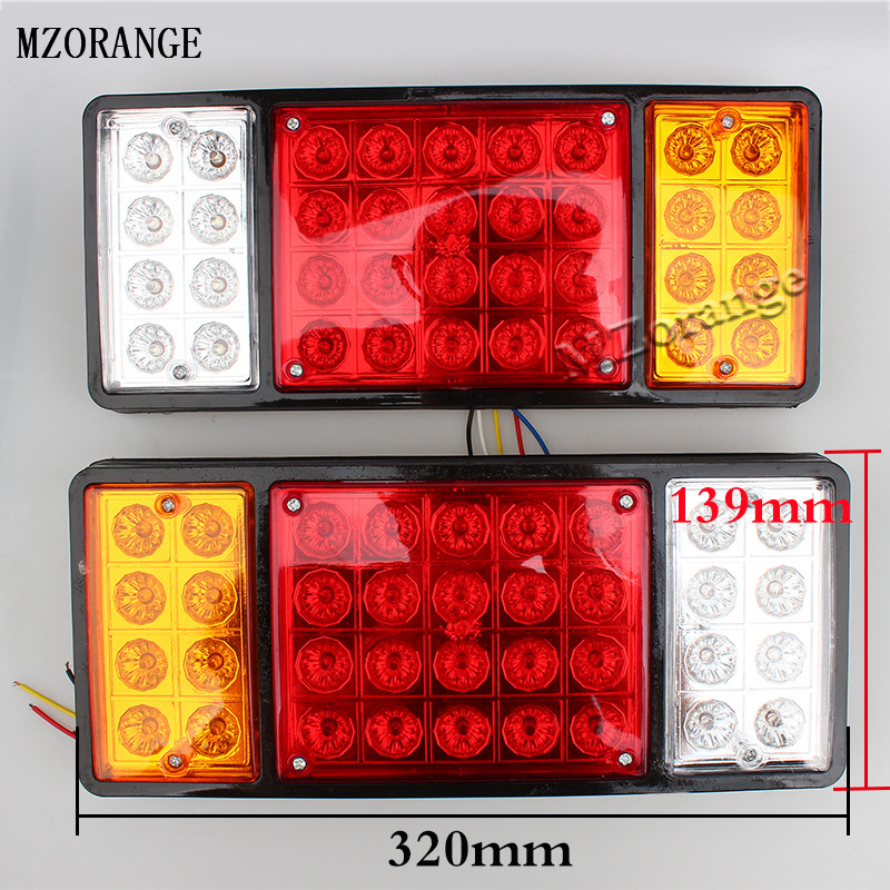 1 Piece 12V 24V 36 LED Rear Turn Signal For Caravan Truck Trailer Stop Rear Tail Lights Indicator Lamp External Light Newest !!! 2pcs 20 led car truck red amber white led trailer waterproof tail lights turn signal brake light stop rear lamp dc 12v cy798 cn