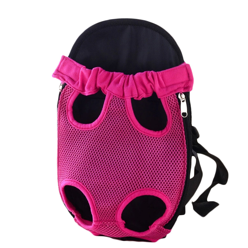 Pet Carrier Dog Front Chest Backpack Five Holes Backpack Dog Outdoor Carrier Tote Bag Sling Holder Mesh Cat Puppy Dog Carrier 5