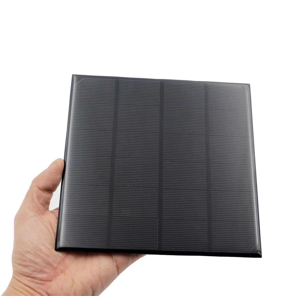 4,5 W 6V 750mA Mini célula Solar panel Solar estándar resina epoxi con fibra de silicio monocristalino de carga de la batería para juguete