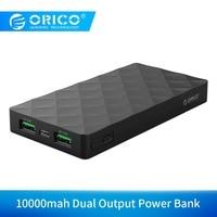 Orico 10000 Mah Externe Batterij 5V2.1A Dual Usb poort Power Bank Charge Voor Samsung Xiaomi Tablet-in Power Bank van Mobiele telefoons & telecommunicatie op