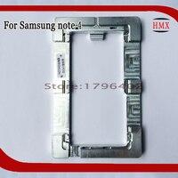 โลหะการจัดตำแหน่งแม่พิมพ์สำหรับSamsung Galaxy note 4โทรศัพท์OCAลามิ
