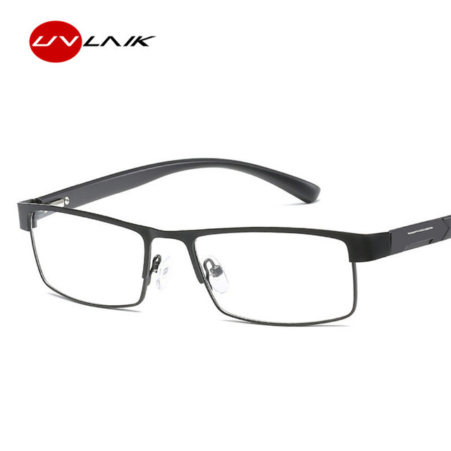 UVLAIK Men Titanium alloy Eyeglasses Non spherical 12 Layer Coated lenses Reading Glasses+1.0 +1.5 +2.0 +2.5 +3.0 +3.5 +4.0