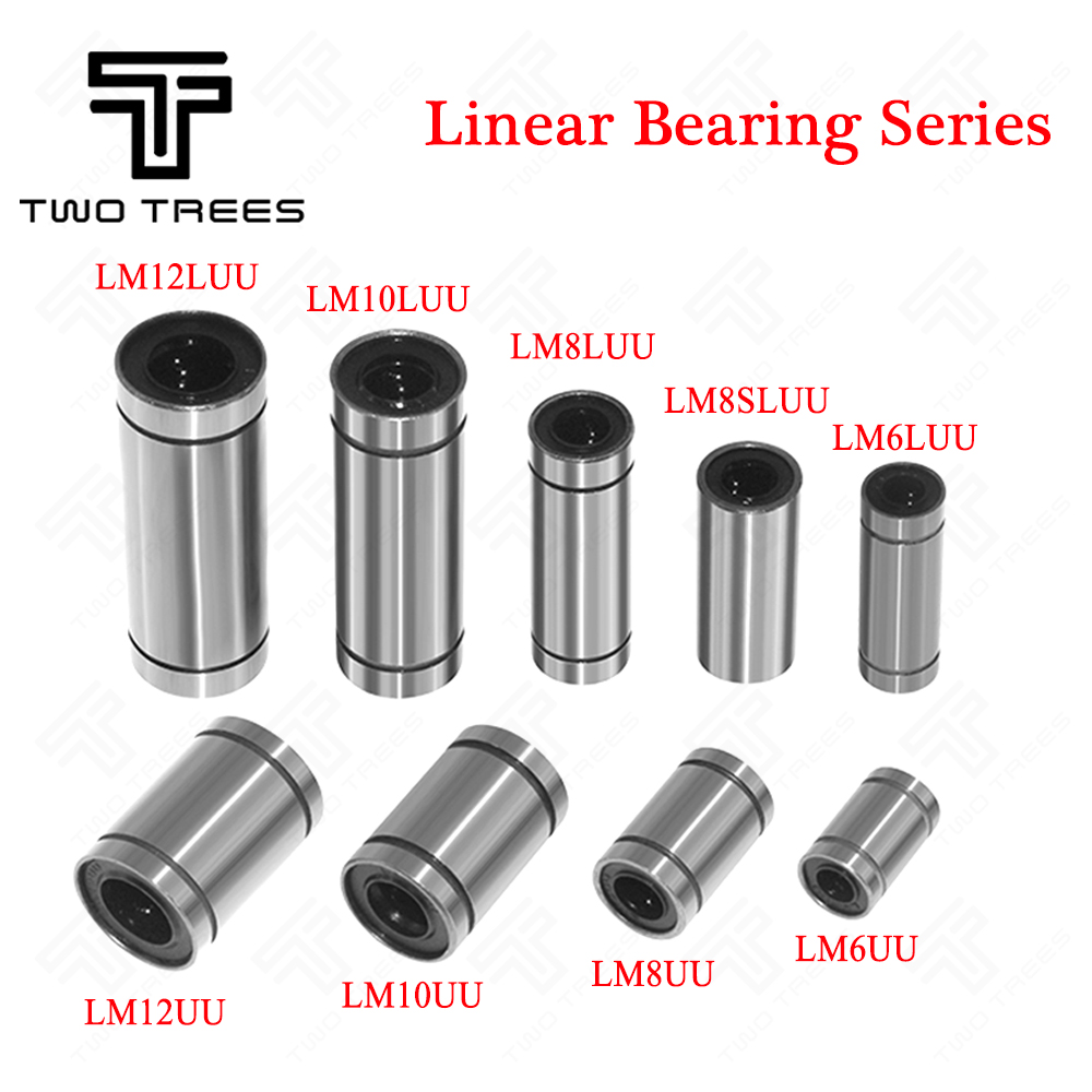 2 x LM10LUU Rubber Shielded Linear Bearings 10x19x55mm