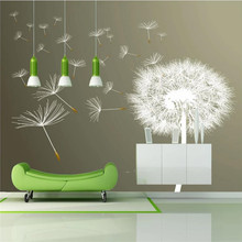 3D wallpaper white dandelion modern minimalist background wall professional making mural photo