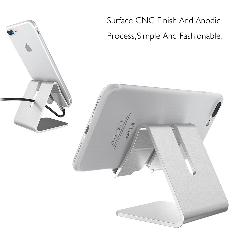 Aluminum Alloy Desk Stand Holder for Senseit E400 for Fly Cirrus 16 FS523 for Doogee X20 X20L Desk Phone Holder Stand