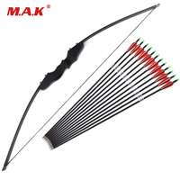 30/40lbs Recurve Bow with 12pcs Carbon Arrows for Right Handed User Archery Bow Shooting Hunting Game Outdoor Sports