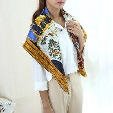 놀라운 디자인 대형 광장 100% 실크 스카프 목도리 hijab 88*88cm 패션 의류 액세서리