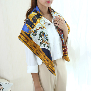 Image 1 - Amazing Thiết Kế Vuông Lớn 100% Lụa Chân Hijab 88*88 Cm Quần Áo Thời Trang Phụ Kiện