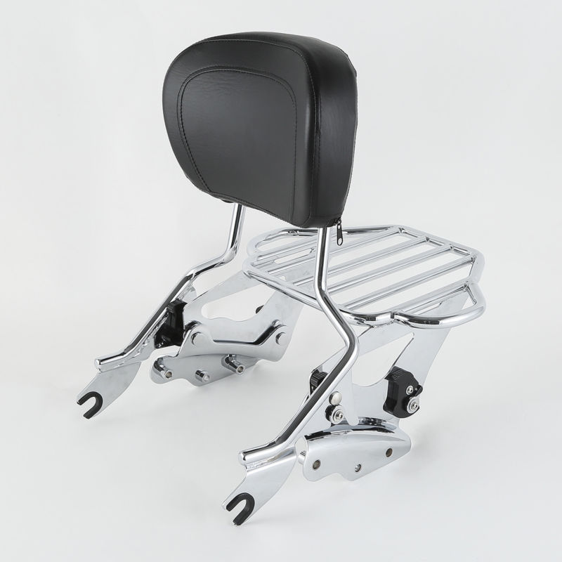 Motorcycle Detachable Backrest Sissy Bar Luggage Rack Docking Kit For Harley Touring Road King FLHR Etectra Street Glide 09-13
