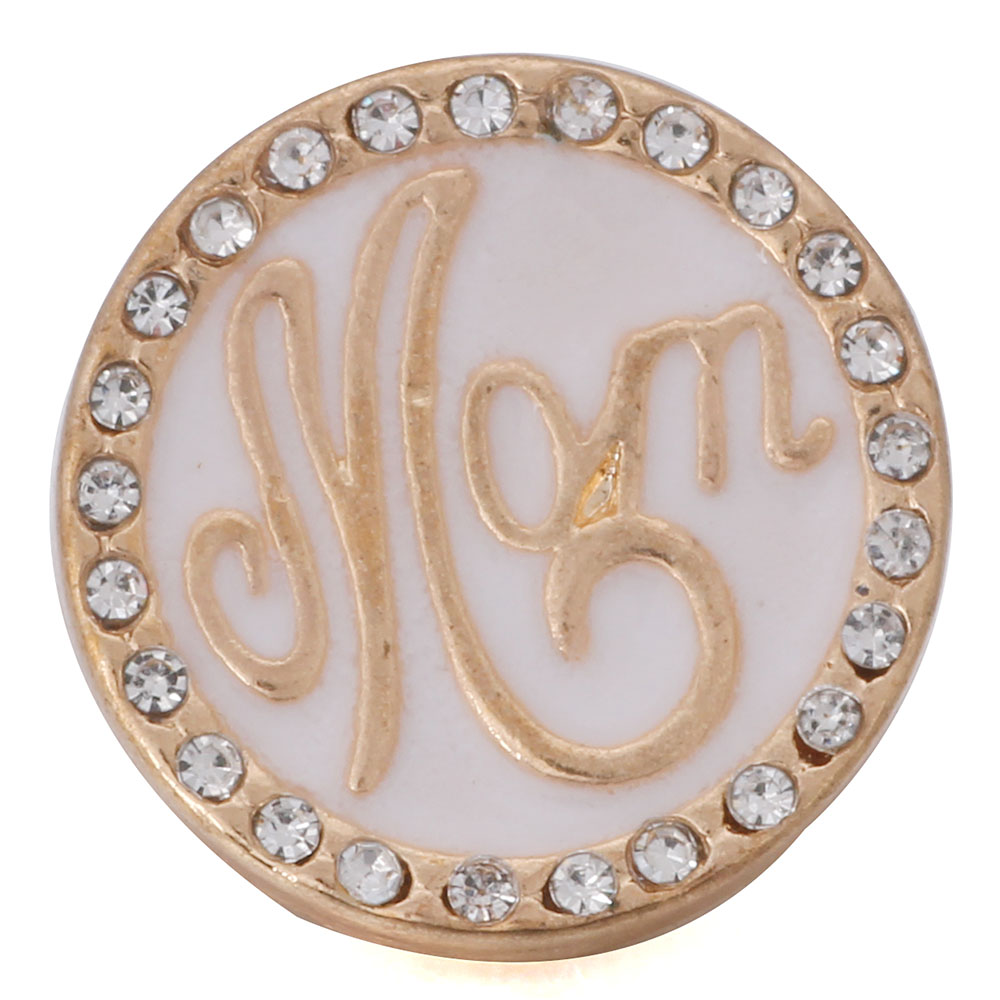10 Teile/los 2019 Neue Mom Gold Snap Schmuck Kristall 18mm Metall Druckknopf Fit 18mm Snap Armband Frauen Mutter Tag Geschenk Angenehme SüßE