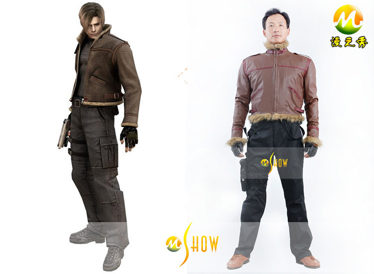 New Arrival Resident Evil 4 Leon S Kennedy Cosplay Costume