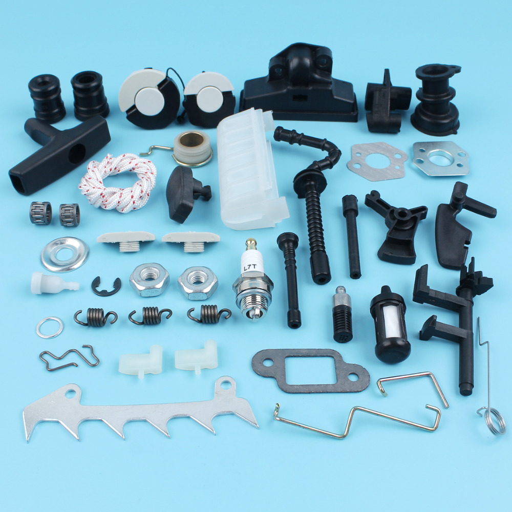 Chain Saw Repair Parts Kit For Stihl MS210 MS230 MS250 Chainsaw Air Fuel Oil Filter Caps Bar Nuts Choke Rod Spring цена