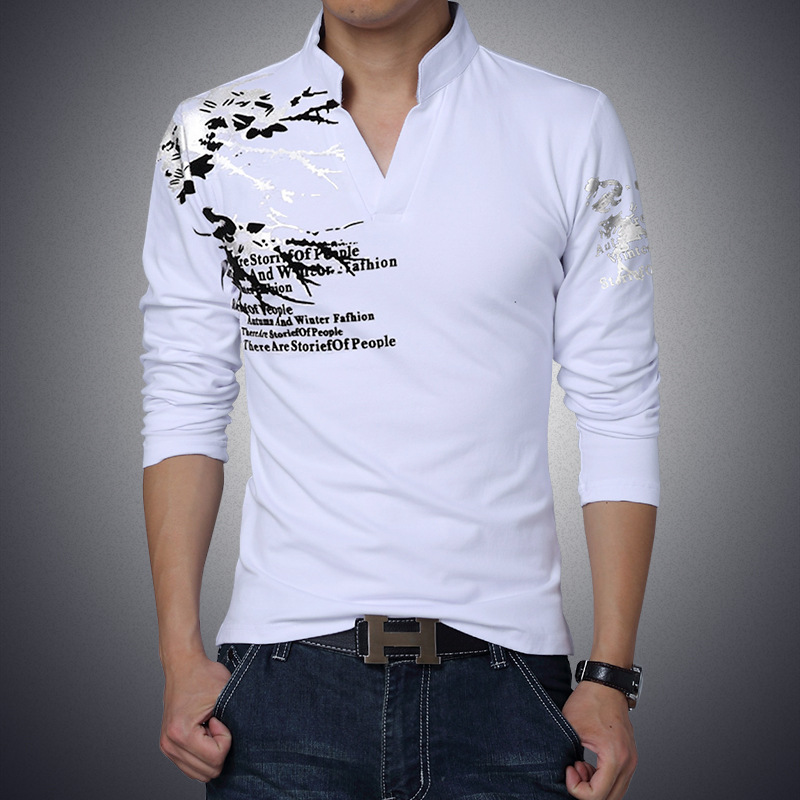 2017 New Fashion Design Casual Wear Stand Neck T Shirts