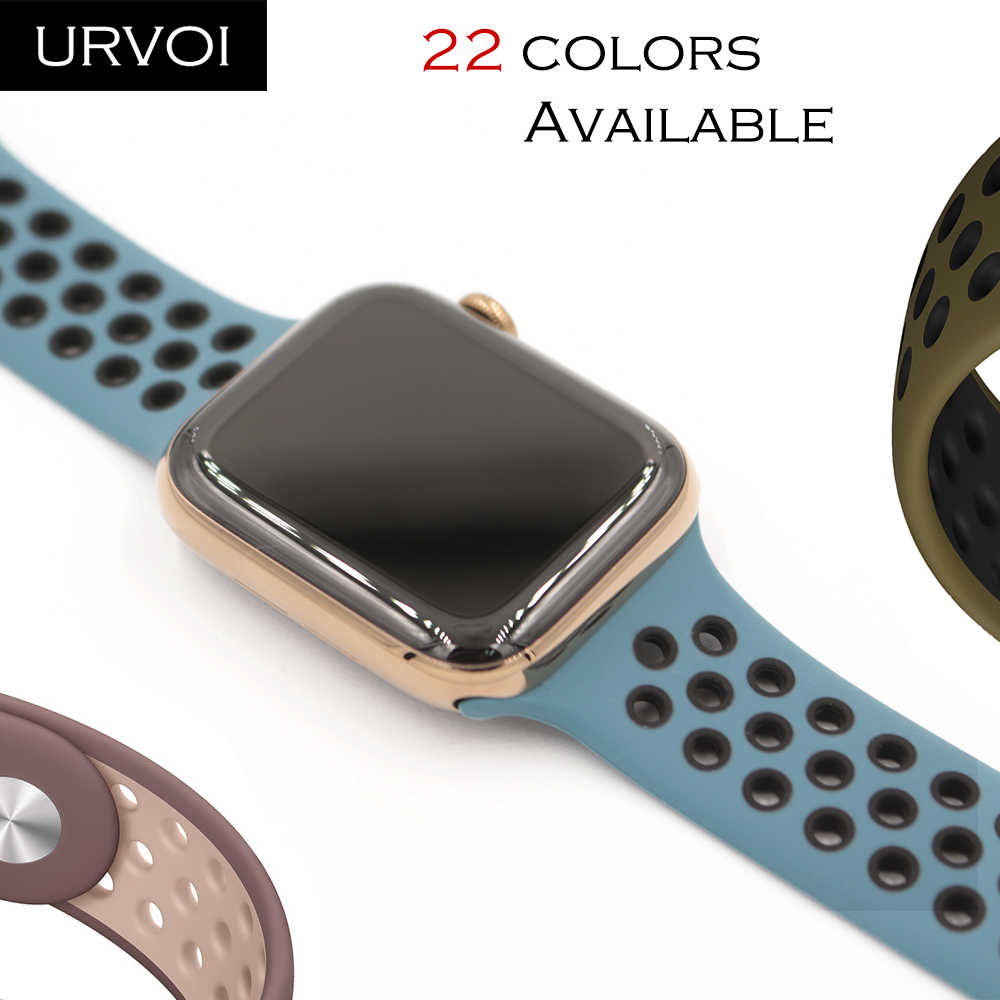 URVOI Sport band for Apple Watch Nike+ series 4 3 2 1 new color silicone strap for iwatch breathable new colors 38/40 42/44 mm