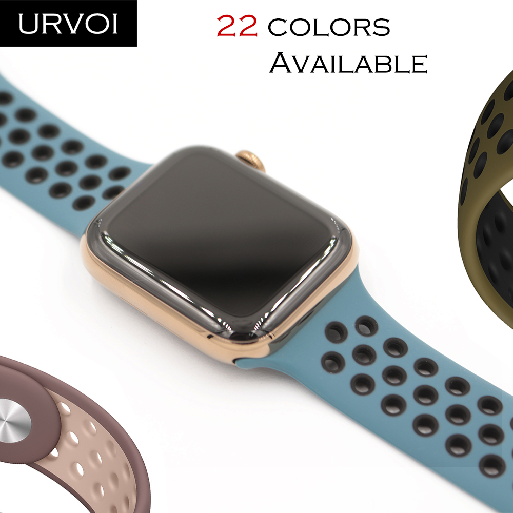 gran ajuste modelado duradero pulcro URVOI Sport band for Apple Watch Nike+ series 5 4 3 2 1 new color ...