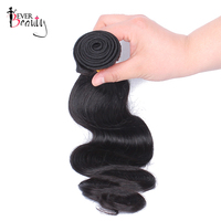 Brazilian Virgin Hair Body Wave Human Hair Bundles Extensions Ever Beauty 1 Piece Only Natural Black 10 26inch