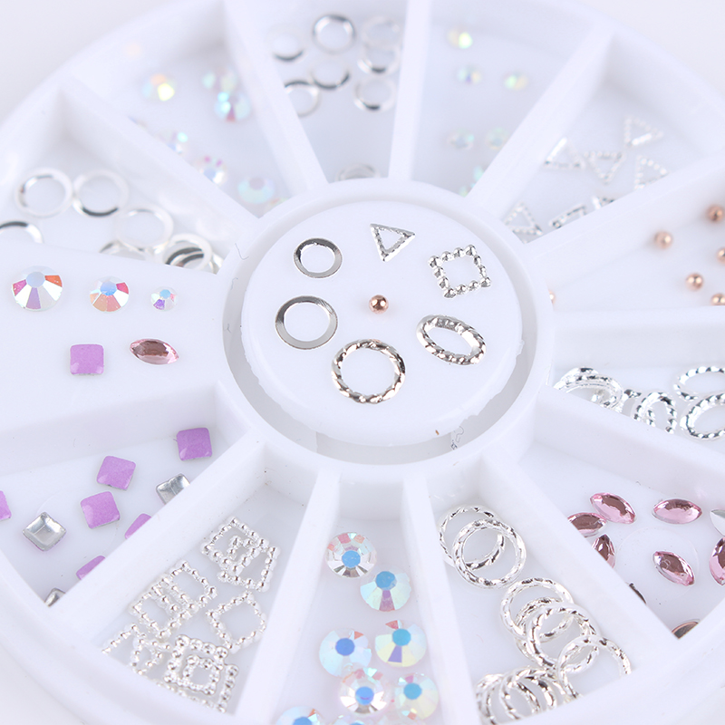 1 Box 3D Nail Art Decoration in Wheel Gold Silver Hollow Square Oval Circle Triangle Rhinestones Manicure Nail Accessories compatible xerox color 560 550 570 digital printer color laser printer toner powder kcmy 4kg free shipping high quality