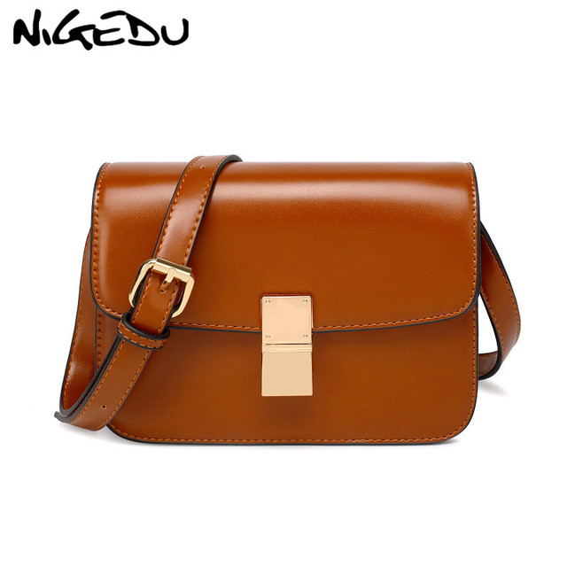 8d1dacf96eed9 Small bag women crossbody bag Female Solid Flap Shoulder Bag Quality PU  leather little bag ladies handbag Brown black wallet