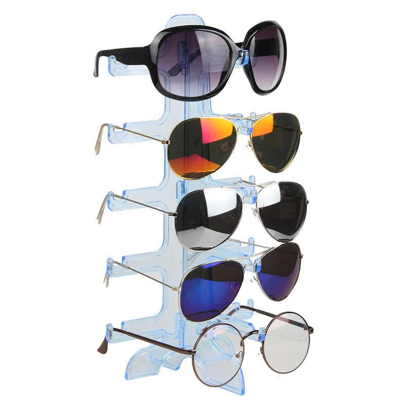Jewelry Organizer Stand 5 Pair Plastic Sunglasses Eyeglass Glasses Rack Display Stand Organizer Show Holder Rack