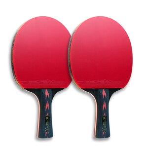 Image 3 - Карбоновые ракетки для настольного тенниса HUIESON, 2 шт., супермощные ракетки для пинг понга, летучая мышь для тренировок в клубе для взрослых, новая улучшенная модель 5/6