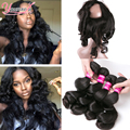 Peruvian Loose Wave With Frontal Closure 360 Lace Frontal With Bundle Loose Wave Peruvian Hair With Frontal Closure With Bundles